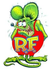 """Rat Fink Decal 6"""" Free Shipping"""