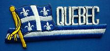 Quebec Flag Patch Embroidered Iron On Applique