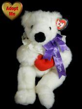 Ty Vintage Mothers Day Love You Mom Stuffed Plush Animal White Teddy Bear Romeo