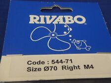 Rivabo Brass Propellor RH 4BL 70mm 4m Part for Model Marine Steam Boat Krick