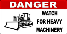 "11 x 6"" DANGER - HEAVY MACHINERY - METAL SIGN - INDUSTRIAL MACHINES WARNING  399"