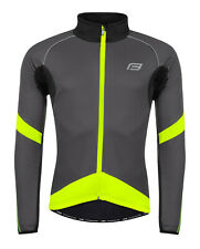 Fahrrad Jacke Sportjacke Fahrradjacke Warm Winddicht Wasserdicht Grau Neon Gelb