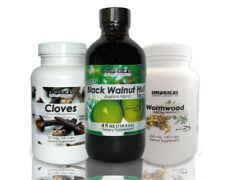 Dr Hulda Clark  Parasite Cleanse - Cloves, Black Walnut Tincture 4oz & Wormwood