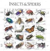 SCOTT 3351 a-t 33 CENT INSECTS & SPIDERS MINIATURE SHEET OF 20 MNH