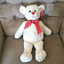 Animal Adventure Cream Sweetheart Love Valentine Teddy Bear 20in Plush 2003 LNWT