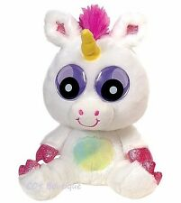 Fiesta ZOOGLY I's eyes plush unicorn toy NWT kawaii googly white pink sparkle