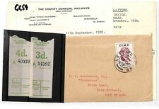 GG59 1954 EIRE IRELAND RAILWAYS Donegal Railway Stamps Cover PTS