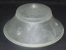 VINTAGE 1930s 3 HOLE CEILING LIGHT FIXTURE DECO LAMP SHADE OPALESCENT WHITE GLAS