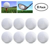 TOYMYTOY 8x Golf Balls Plastic Hollow Golf Practice Ball Training Indoor Outdoor