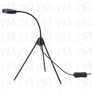 IKEA LED Table Lamp,Office Lounge Bedside Desk light adjustable head Black New