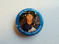 Vintage 1984 New York Yankees Don Mattingly Pinback Button Fun Foods No. 77/133