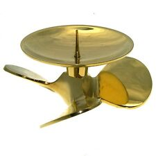 Plate Chandelier Ship Propeller For Pillar Candles, Candle Holder, Brass