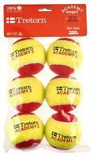 Tretorn Academy Oversize Red Felt 6 Pack (Stage 3 Balls)