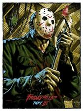 Friday the 13th Part 3 By Jason Edmiston - Regular - Rare Sold Out Mondo Print