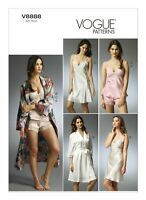 Vogue Sewing Pattern V8888 Lingerie Robe Camisole Slip & Panties patterns