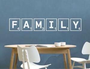Family scrabble tiles wall sticker | Family wall art