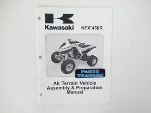 NOS Genuine Kawasaki Dealer Factory Assembly & Preparation Manual KFX450R 2008