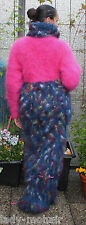 * Longhair mohair Fuzzy handknitted Sweater stumble dress pink Coloré L-XL