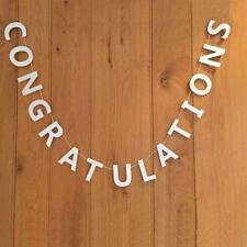 White Wooden Congratulations Garland