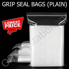 More details for grip seal bags self resealable clear polythene poly plastic zip lock all sizes