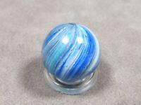 "Antique German Blue Green Onionskin Marble Vintage 23/32"""