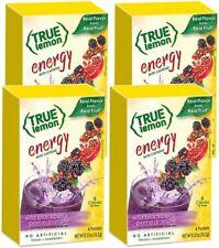 True Lemon (Energy) Wild Blackberry Pomegranate,  Powdered Drink, Pack of 4