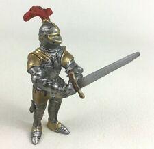 """Schleich Silver Gold Swordsman Knight 4"""" Action Figure Fantasy Toy 2003"""