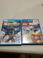 Lot Of 2 Wii U Lego Games - Batman 3 Beyond Gotham and Marvel Super Heroes