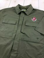 """Mint"" FIRST TACTICAL Tactix Series Tactical Shirt Olive w/Logo Men's Large  M93"