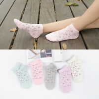5/10 pairs women's 80% Cotton ankle Boat Casual Low Cut Socks Floral Flower