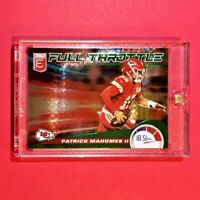 Patrick Mahomes DONRUSS ELITE GREEN FULL THROTTLE CHIEFS FOOTBALL CARD - Mint!