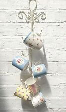 Shabby Chic Wall Mounted Multi Hooks Mug Tree Rack Cup Hanger Metal Storage Keys