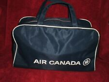HTF Vintage Mini Hand Held Air Canada Carry On Tote/Travel Bag, navy/white