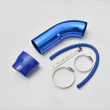 """3"""" Car Cold Air Intake Induction Pipe Kit Filter Tube System Blue Universal 76mm"""