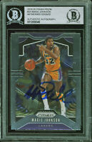 Lakers Magic Johnson Authentic Signed 2019 Panini Prizm #25 Card BAS Slabbed