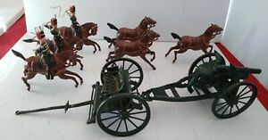 Vintage Britains Lead Soldiers Royal Horse Artillery with cannon