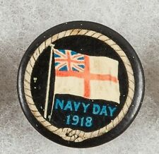World War One Australia Navy Day 1918 Pinback Button Badge - very rare