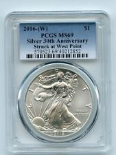 2016 (W) $1 American Silver Eagle 1oz Dollar PCGS MS69