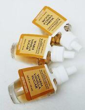 3 Bath & Body Works WARM VANILLA SUGAR Wallflower Scented Refill Oil Plugin