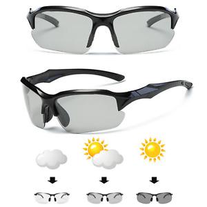 Sports UV400 Photochromatic Polarised Cycling Running Sunglasses Glasses Eyewear