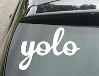 "LARGE ""YOLO"" Funny Car/Window JDM VW EURO DUB Vinyl Decal Sticker"