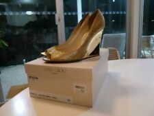 High (3 in. to 4.5 in.) Wedge Leather Textured Heels for Women