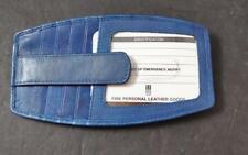 ili World Leather Jeans Blue 10 Credit Card RFID Block Side Zip Pocket Snap G20