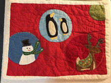Pottery Barn Christmas Quilted Pillow Sham Cover Reindeer Snowman Penguin NWOT