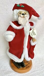 Raikes Bears~1990 CLASSIC SANTA~Wooden Stand SIGNED LE #3744/10,000 MIB NRFB NEW