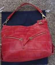Dooney & Bourke  Red Croco Cinzia Leather Purse/Bag/Tote  MSRP $365.00