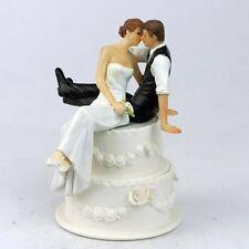 CAKE TOPPER MATRIMONIO SPOSO SPOSA ROMANTICO SEDUTI