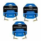 3-Pack Boss BPC-4-3 Slimline Pedal Patch Cable 4 in./10 cm