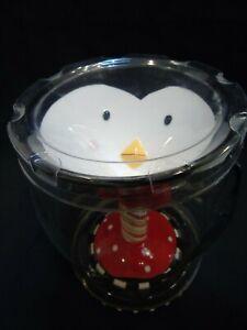 SCM Designs Christmas Ceramic Penguin Martini Glass Cup Mug Margarita Red Bow