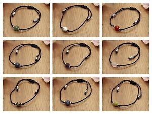 Handmade Adjustable Crystal Healing Gemstone Bracelet & Velvet Pouch. Various